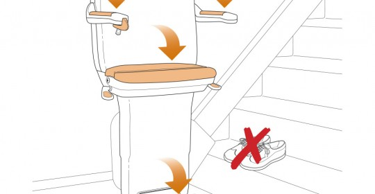 vector illustration-stairlift
