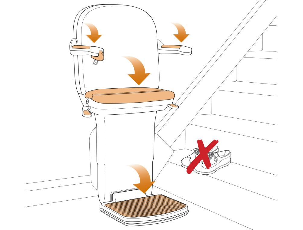 vector illustration-stairlift