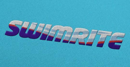 logo-design-swimrite - embroidered