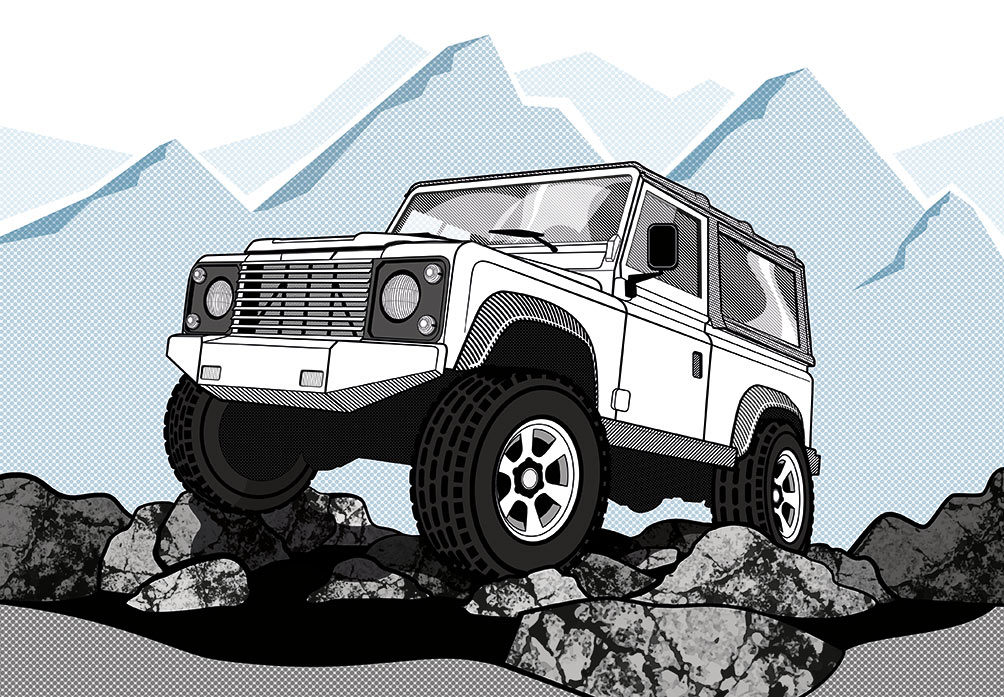 Vector Illustration - Land Rover Defender 90 ©Creative Surge