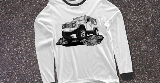 Vector Illustration - Land Rover Defender 90 T-Shirt ©Creative Surge