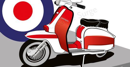 Vector Illustration Lambretta TV175