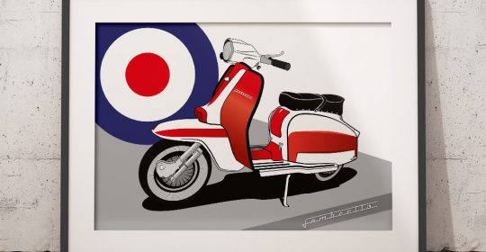 Vector Illustration Lambretta TV175